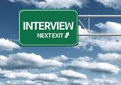 Creative sign with the message - Interview Next Exit
