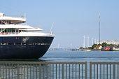 Cruise Ship and Wind Farm