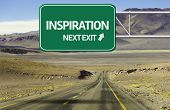 Amazing Road with a creative sign with the text - Inspiration, Next Exit