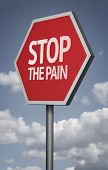 Creative sign with the message - Stop The Pain