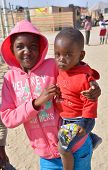 child living in Mondesa slum
