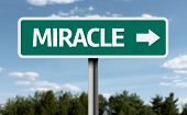 Creative sign with the text - Miracle