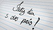 Note with the message - Happy Fathers Day in Portuguese