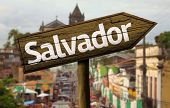 Salvador wooden sign, Brazil