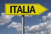 Concept for travel subject - Italia yellow sign