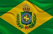 Flag of the Second Empire of Brazil, with 20 stars, representing the new provincies of Rio Negro and Parana - Brazilian Independence Day