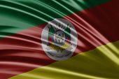 Amazing flag of the State of Rio Grande do Sul , Brazil