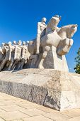 stock photo of bandeiras  - The amazing Bandeiras Monument in ibirapuera park - JPG