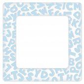 Alphabet Frame, Baby Blue Pastel