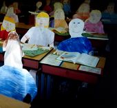 Paper Children In Classroom