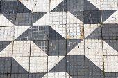 Mosaic on Sao Paulo sidewalk, Brazil - Latin America