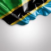 Amazing Flag of Tanzania, Africa
