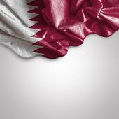 Waving flag of Qatar, Western Asia