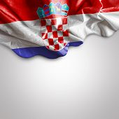 Waving flag of Croatia, Europe