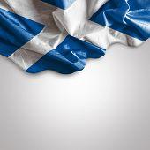 Waving Flag of Scotland, United Kingdom