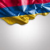 Waving flag of Armenia, Eurasia