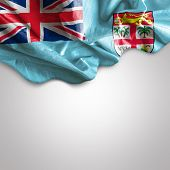 Waving flag of Fiji, Melanesia