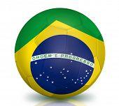 Brazilian Soccer Ball isolated on white background