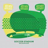 Soccer (football) stadium graphic vector