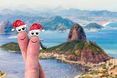Lovely Couple Fingers in Rio de Janeiro, Brazil