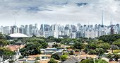 stock photo of obelisk  - Sao Paulo Skyline - JPG