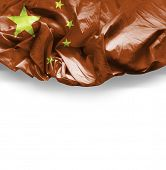 Waving flag of China, Asia