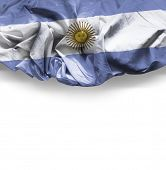 Waving flag of Argentina, South America