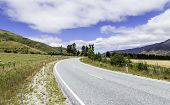 Road in Queenstown, New Zealand, South Island