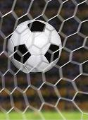 Soccer scoring goal