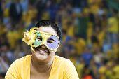 stock photo of brazilian carnival  - Brazilian woman with the carnival mask - JPG