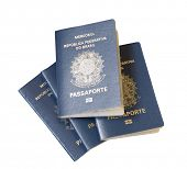 Brazilian Passport isolated on white background