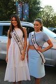 Miss Universe 2014 Gabriela Isler from Venezuela and Miss USA 2014 Nia Sanchez from Nevada