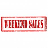 Weekend Sales stamp