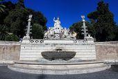 Fountain In Piazza Del Popolo, Rome