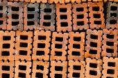Orange Bricks Used In The Construction