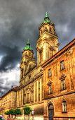 stock photo of sacred heart jesus  - Basilica of the Sacred Heart of Jesus in Zagreb - JPG
