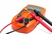 Orange Multimeter On A White Background