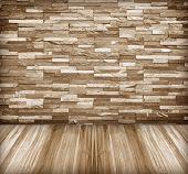 Old Stone Walls, Wooden Floor Corridor.