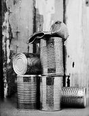 Tins Cans Stacked