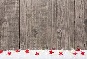 Christmas Background With Snow And Stars