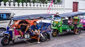 Motor bike rickshaw drivers