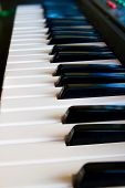 The Black And White Keys Of A Piano