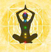 Seven chakra yoga pose