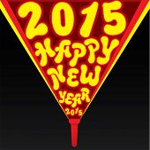creative  new year 2015 greeting with using lamp light design vector