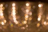 Defocus Light Bokeh On Chandelier