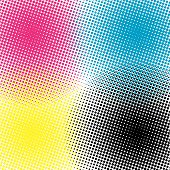Background halftone CMYK vector illustration