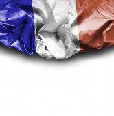 France waving flag on white background