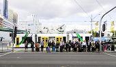 MELBOURNE, AUSTRALIA - CIRCA JAN 2014: Business day at Federation Square in Melbourne, australia