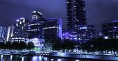 MELBOURNE, AUSTRALIA - CIRCA JAN 2014: Melbourne's White Night attracted more than 500,000 visitors to the city centre and lit up its buildings as works of art.