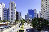 Berrini Avenue in Sao Paulo, Brazil